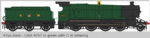 Heljan 4781 47XX GWR 4705 in GWR Green